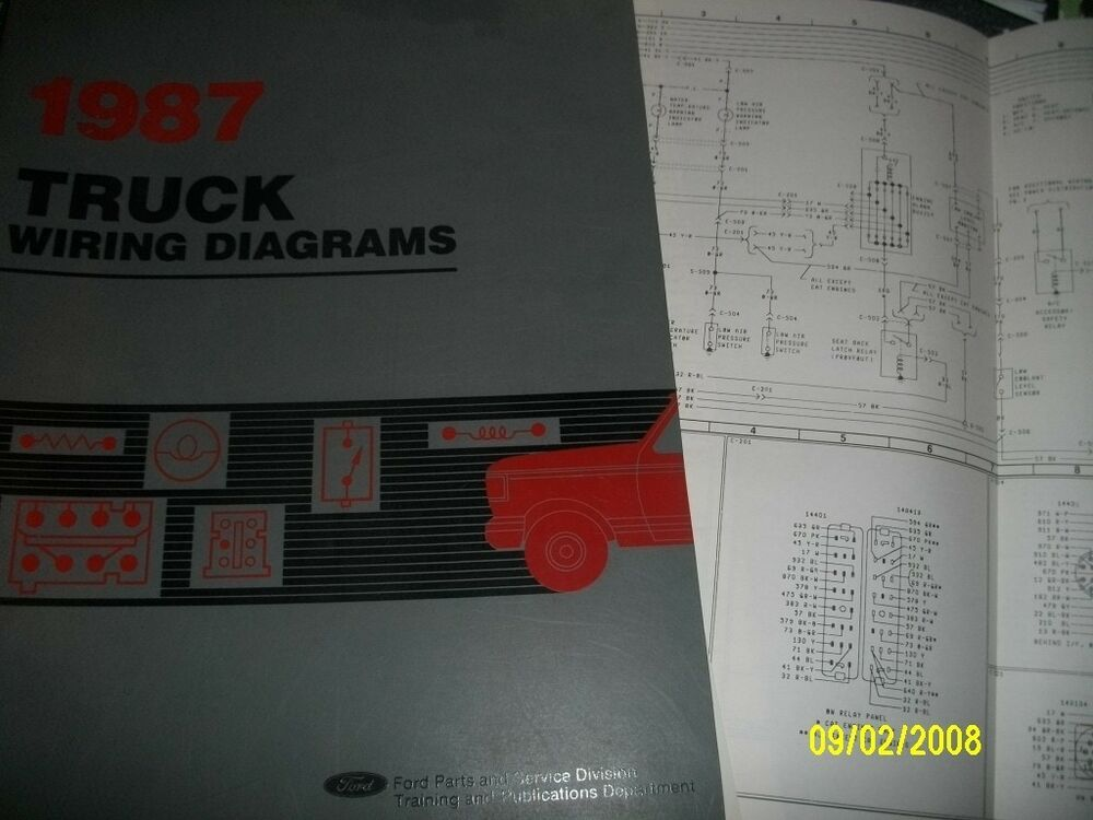 1987 Ford Aerostar Vans Factory Original Wiring Diagrams