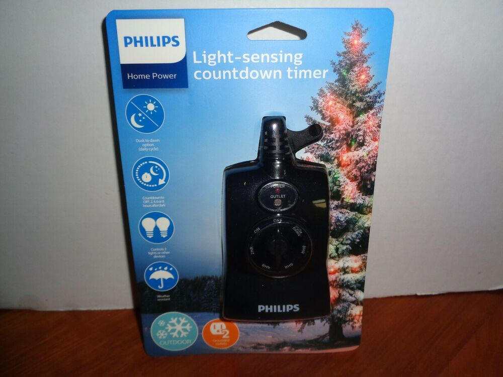Work Choice Outdoor Grounded Photocell Outlet Timer Dusk To Dawn 24hr Heavy Duty Ebay