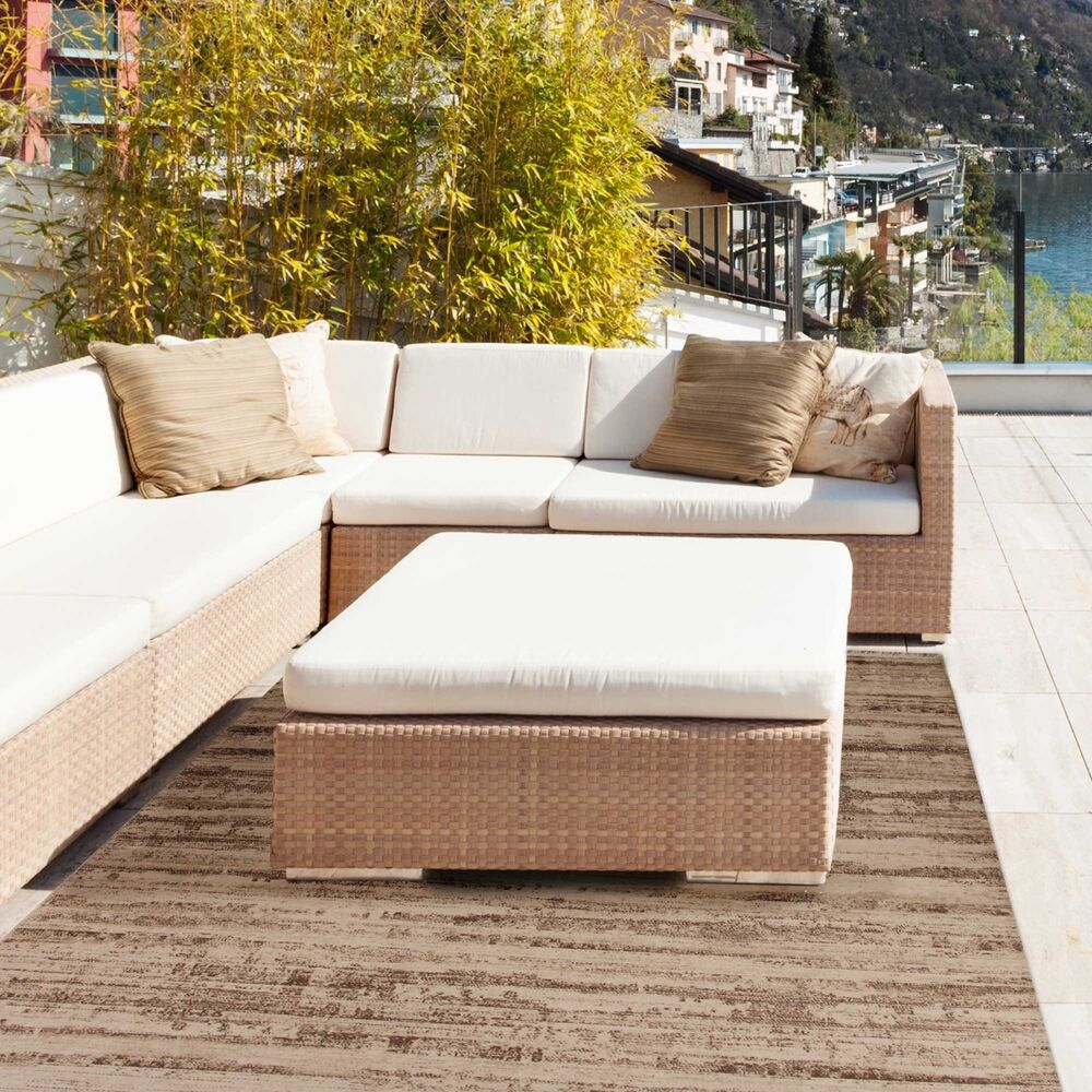 waschbarer teppich f r balkon terrasse teppich outdoor beige rutschfest ovp ebay. Black Bedroom Furniture Sets. Home Design Ideas