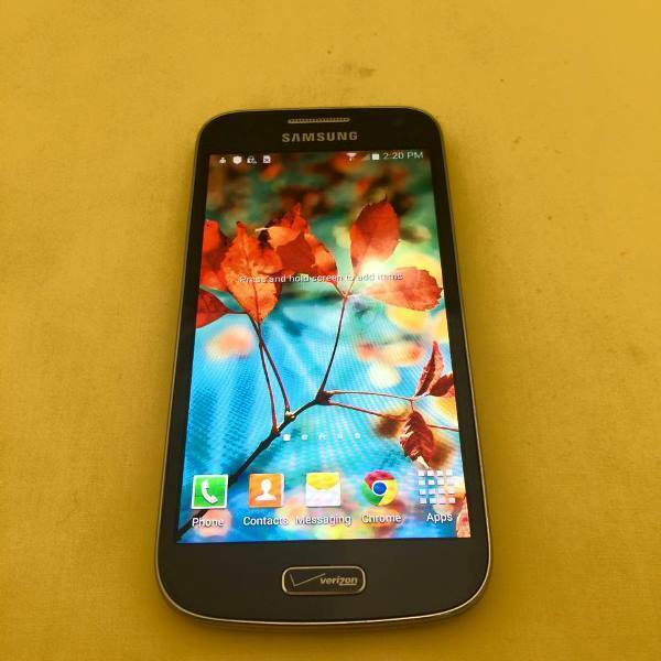 near mint samsung galazy s4 mini i435 16gb verizon gsm. Black Bedroom Furniture Sets. Home Design Ideas
