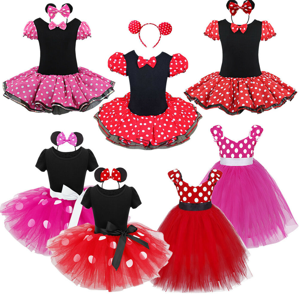 af867062d Details about UKBaby Kids Girls Minnie Mouse Birthday Party Costume Ballet Tutu  Dress 1-10 Yrs