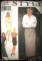 MS Style Pattern 2548 UNCUT EASY Wrap Skirt 3 Length Slim Fit SZ 6 8 10 12 14 16