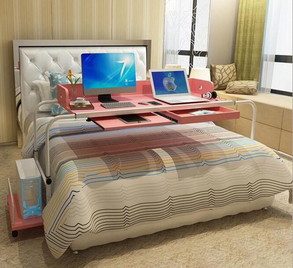 Mobile Over Bed Table Home Office Working Computer Desk