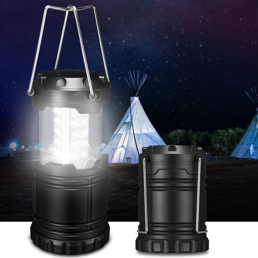 camping lantern portable collapsible 30 led hiking night light lamp flashlights ebay. Black Bedroom Furniture Sets. Home Design Ideas