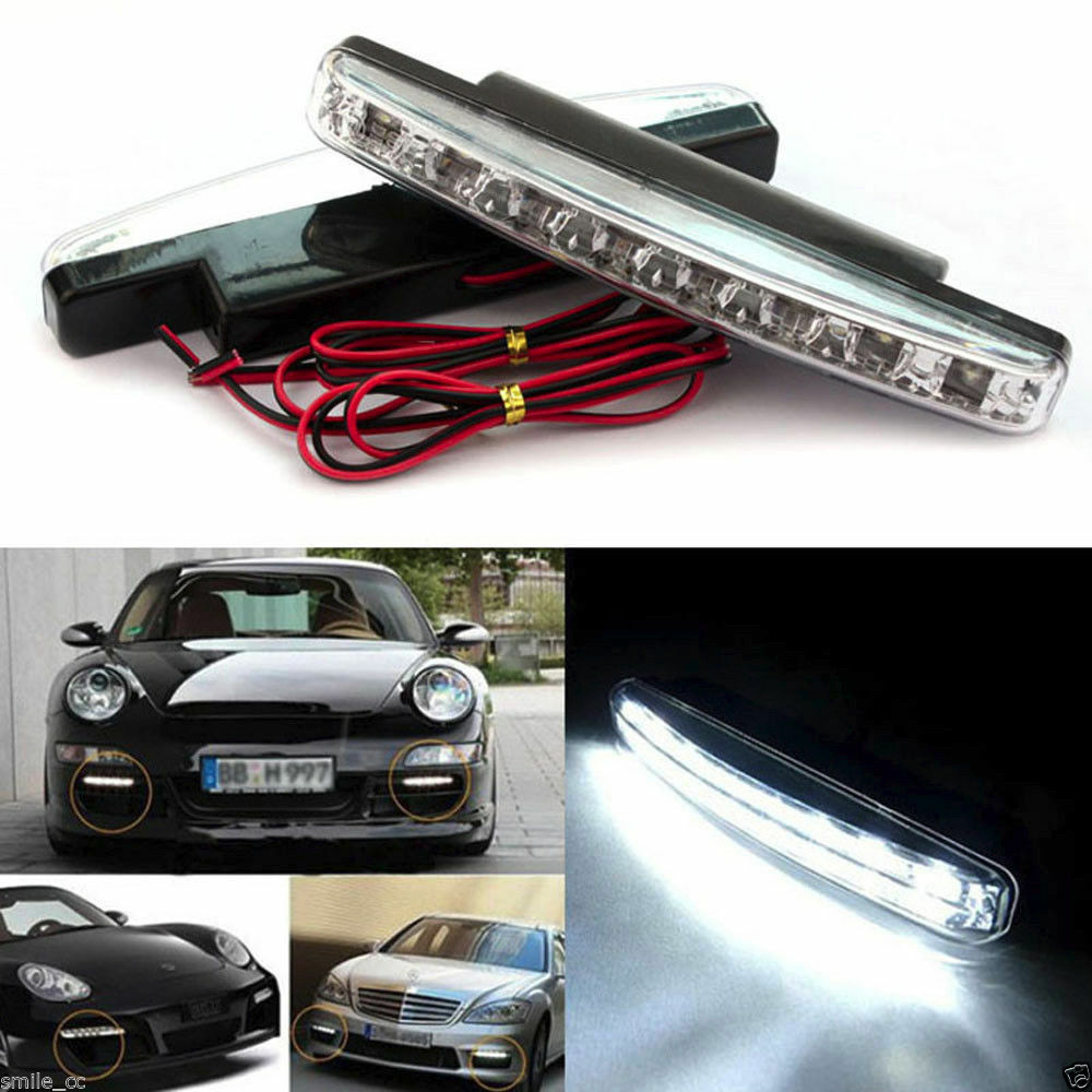 8 led new waterproof dc 12v daytime driving running light for Dc motor light led
