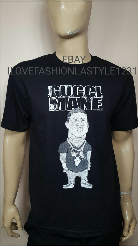0866efa59 Gucci Mane Black T-shirt Brick Squad Tee Factory T Shirt RAP | eBay