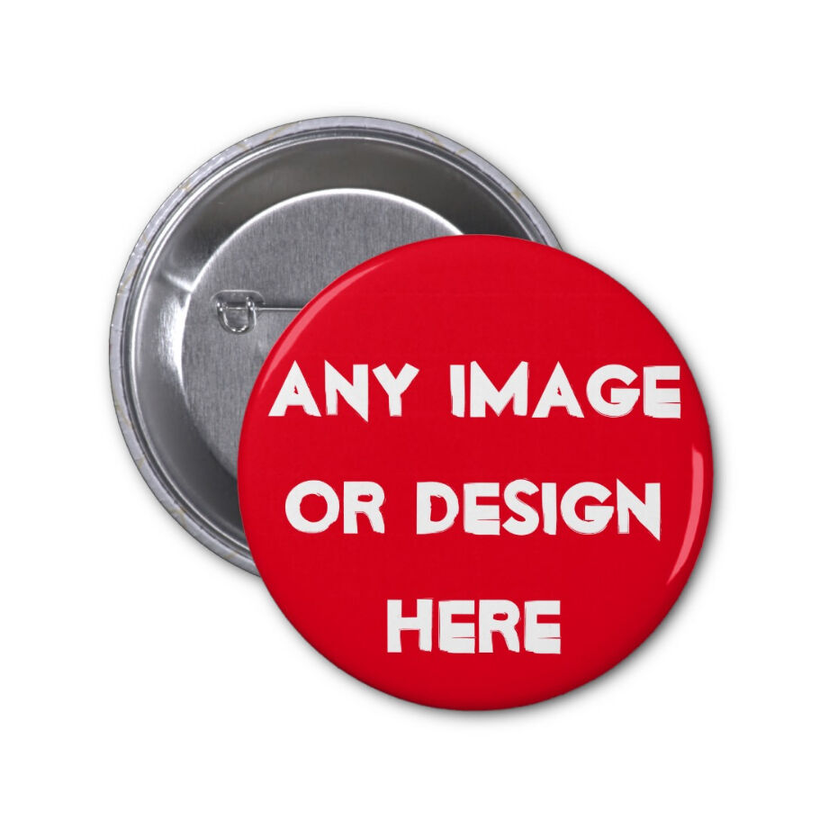 "Pin Badges: 5 Custom 2.25"" PINBACK BUTTONS With Any Photos Designs"