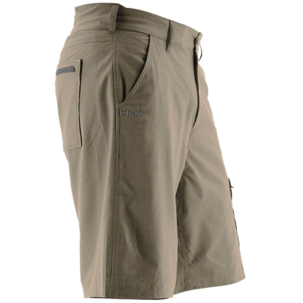 Huk fishing next level shorts h2000011 khk khaki ebay for Huk fishing shorts