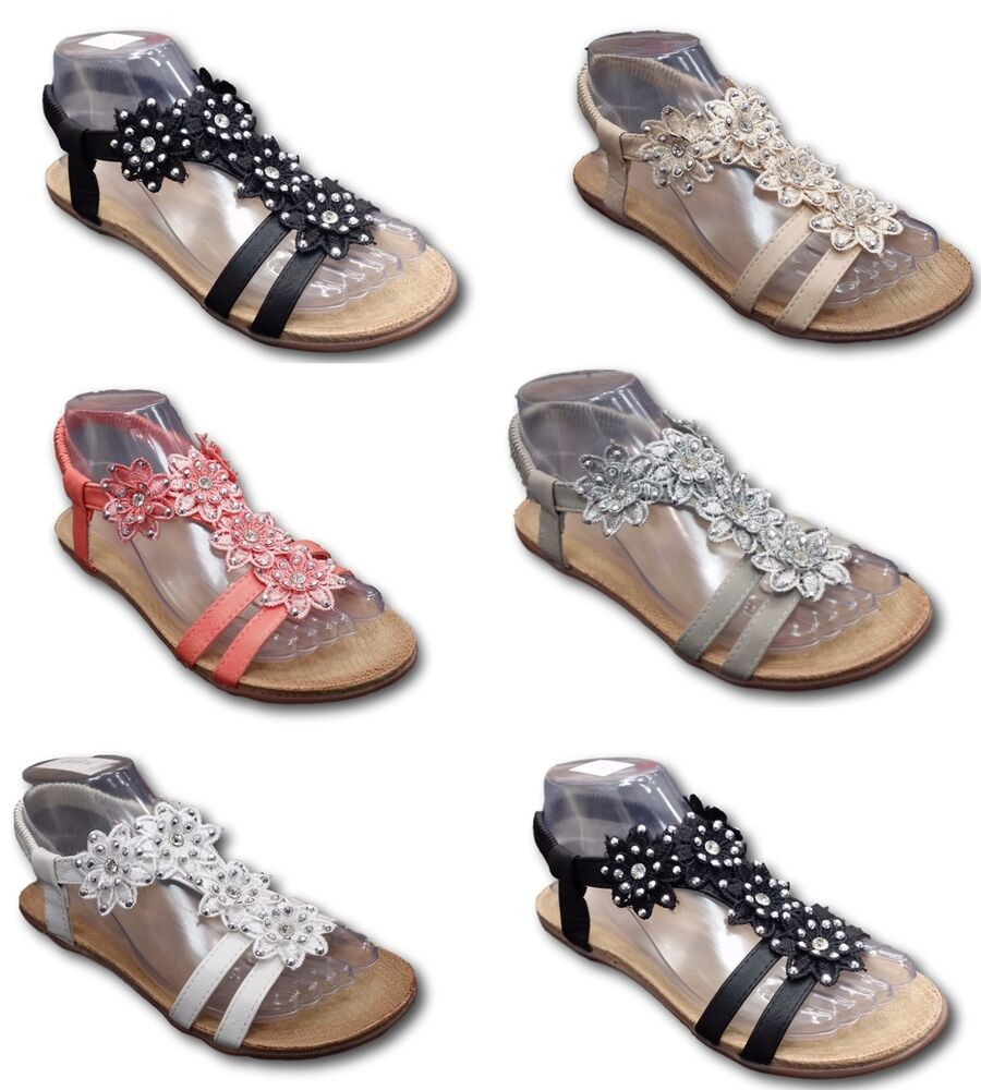 3f6f6f3cc Women Ladies Sandals Summer Beach Fancy Flat Party Wedding Shoes 3 to 8  Sizes