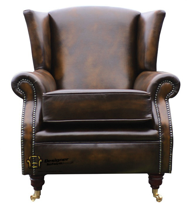 Southwold Fireside High Back Wing Armchair Antique Tan ...