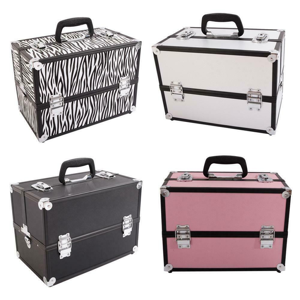 Professional Travel Aluminum Makeup Train Case Box