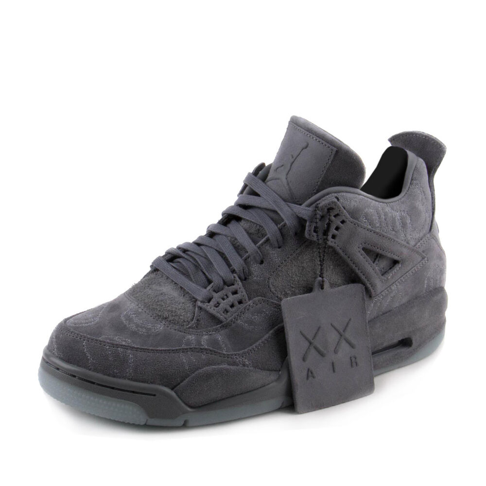 Nike mens air jordan 4 retro kaws cool grey white 930155 for Retro images