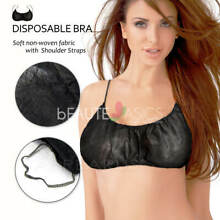 12 Pcs Disposable Bra Spa Spring Tanning Backless - Black or White