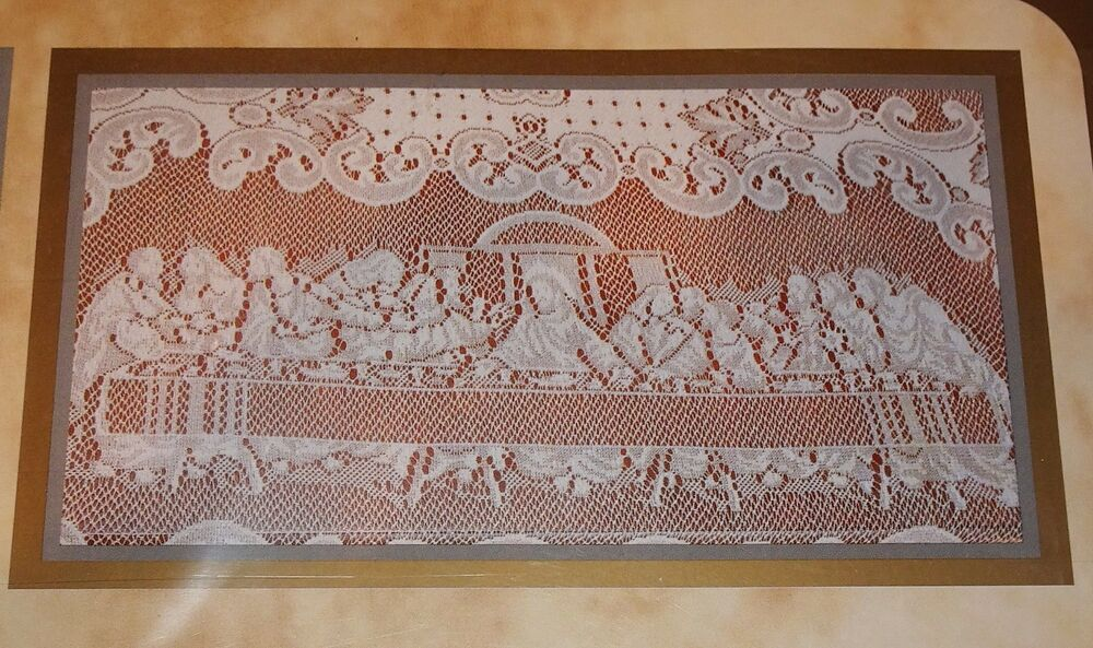 Scranton Lace Co Tablecloth Last Supper Easter 60 Quot X 84