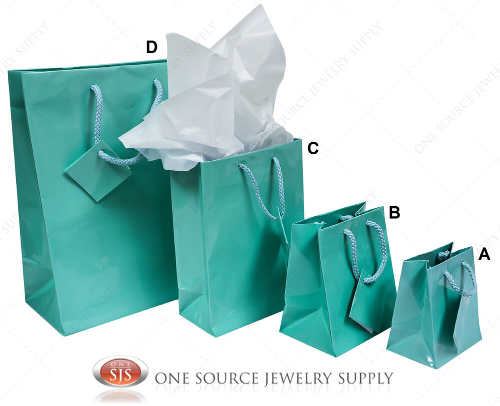 Gift Bags Teal Blue Tote Party Supplies Paper Gift Bags