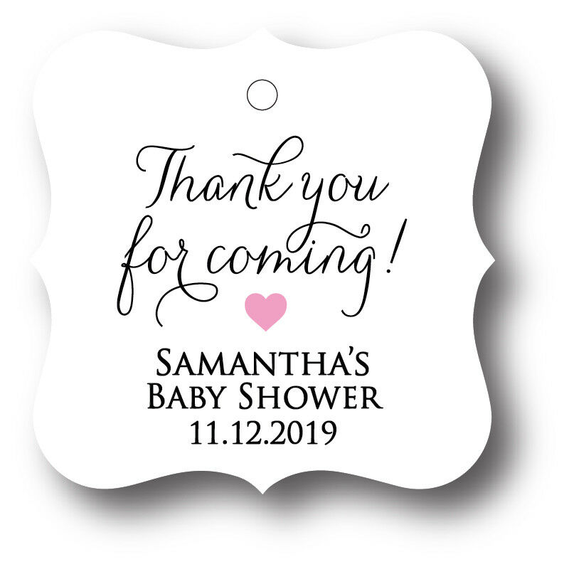 24 Thank You For Coming Baby Shower Favor Tag Personalized With