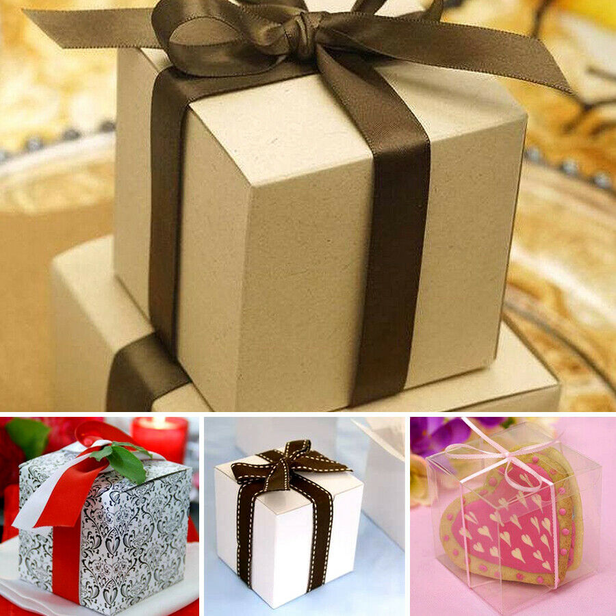 Wedding Gift Boxes: 200 Pcs 3x3x3 Inch Paper GIFT BOXES Wedding FAVORS Easy