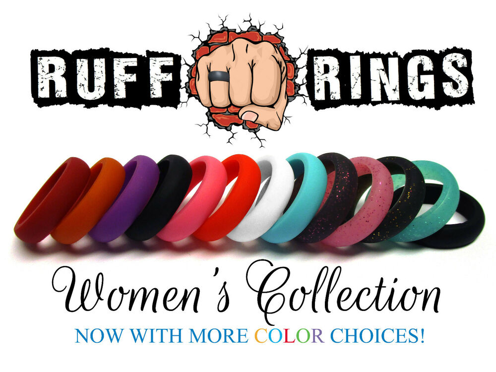 Women S Silicone Wedding Rings Stackable Crossfit Gym