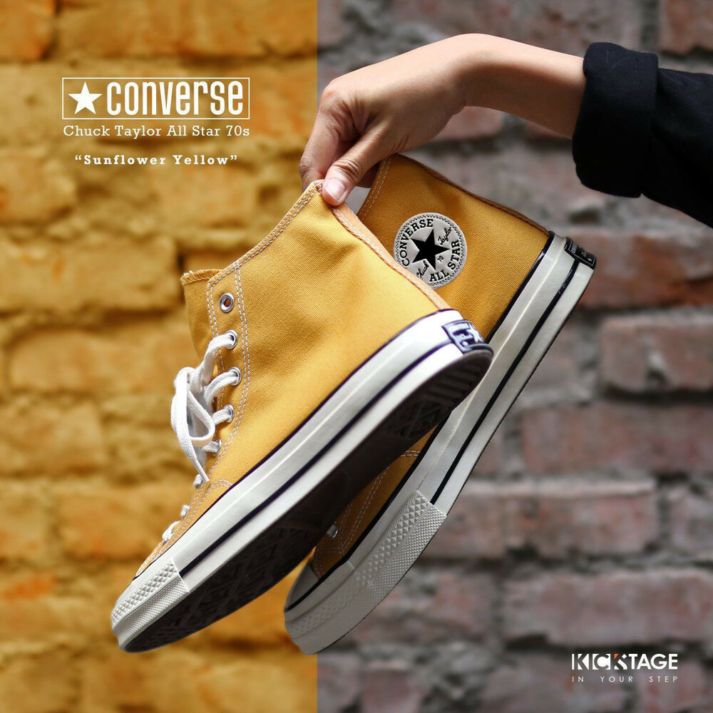 c616d43bb50467 Details about Converse Chuck Taylor All Star 70s High Sunflower Yellow  Black Label 162054C