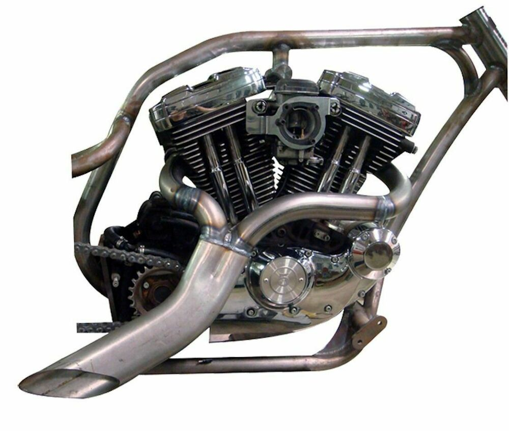 Twisted choppers ground pounder header exhaust drag