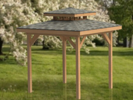 10 39 x 10 39 double hip roof gazebo building plans perfect for Double hip roof design