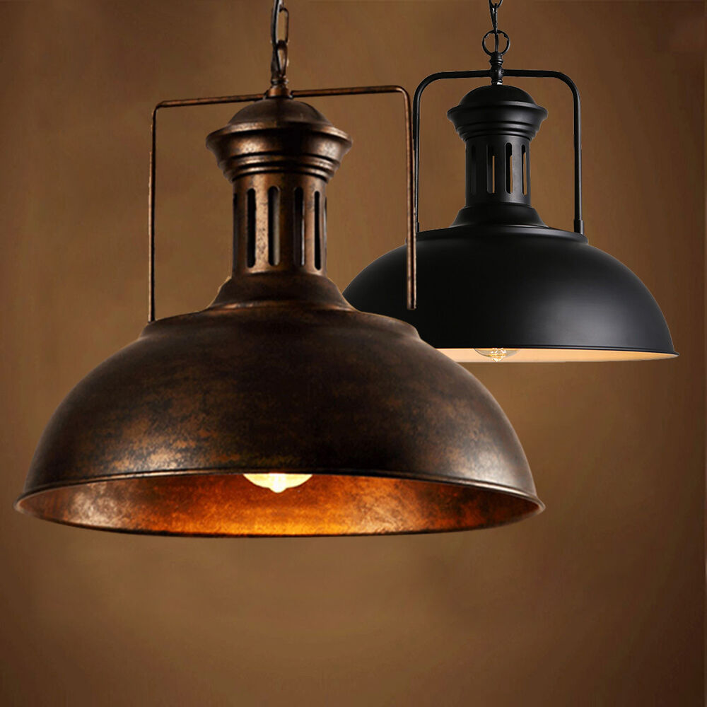 Old Industrial Pendant Light: Vintage Industrial Warehouse Barn Pendant Light Ceiling