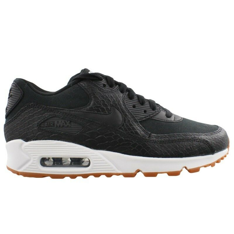 online retailer 455f1 493df Details about New Nike Women s Air Max 90 Premium Shoes (896497-002) Black  Black-Gum-White