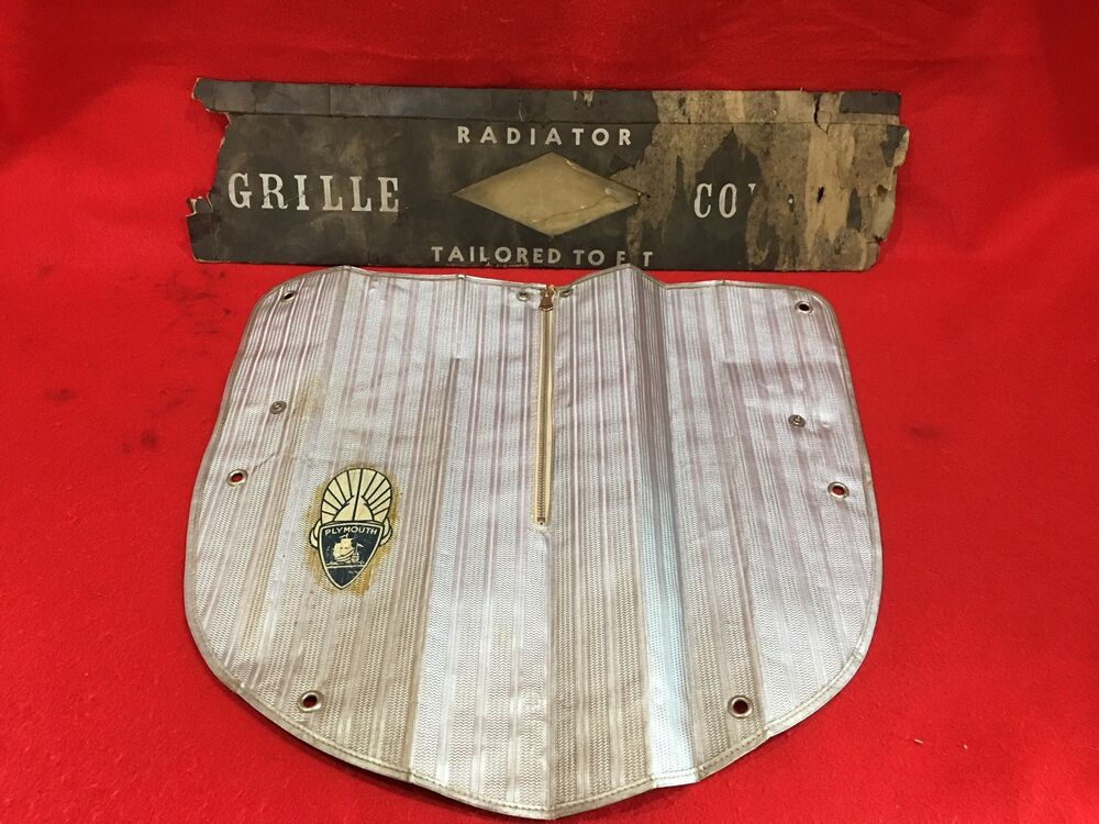 vintage  plymouth radiator grill grille cover ebay