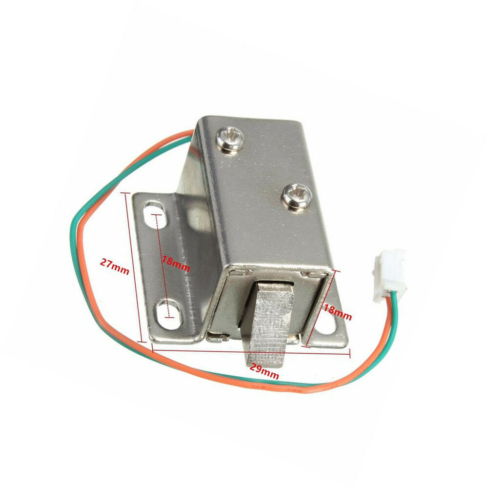 Dc 12v Electric Solenoid Lock Tongue Upward Assembly For
