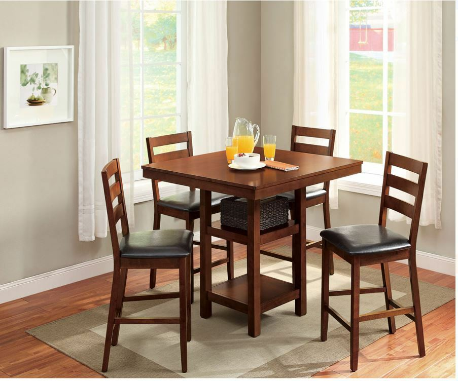 dining table set for 4 high top table chair small kitchen 5 piece counter height ebay. Black Bedroom Furniture Sets. Home Design Ideas