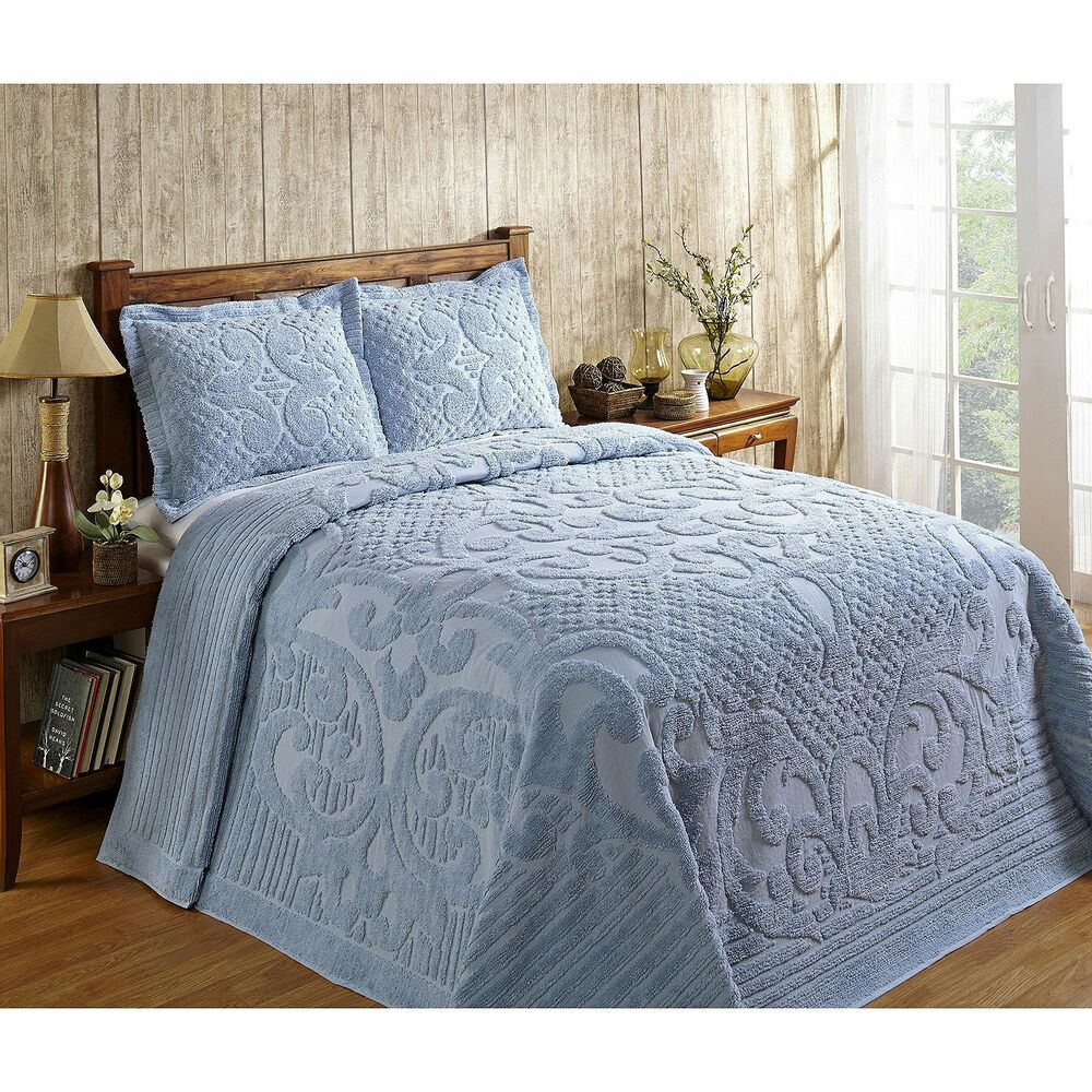 Ashton Heavyweight Chenille Bedspread And Pillow Sham