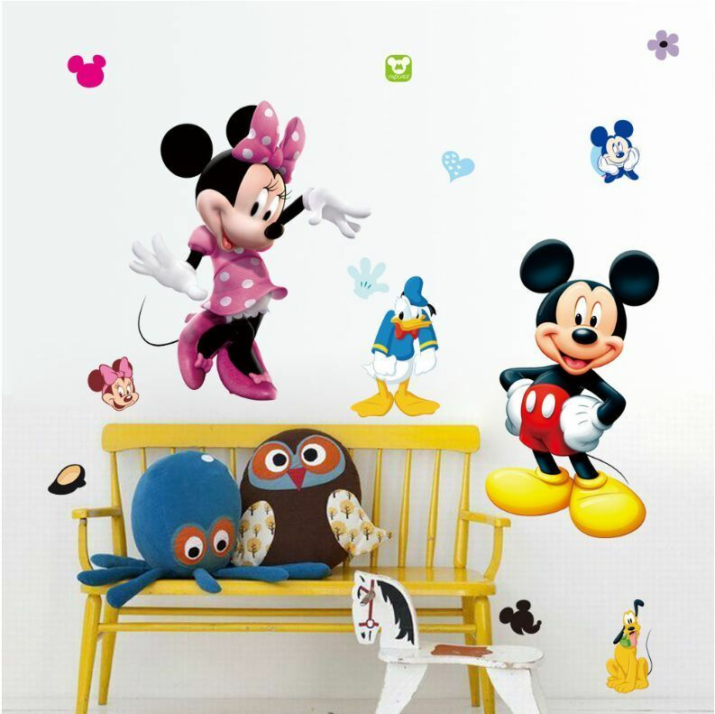 wall stickers mickey mouse minnie donald duck art kids nursery decal