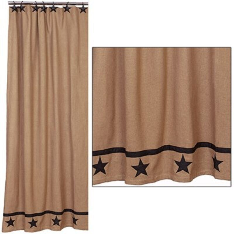 Details About GETTYSBURG STAR SHOWER CURTAIN 72x72 CLASSIC AMERICANA COUNTRY