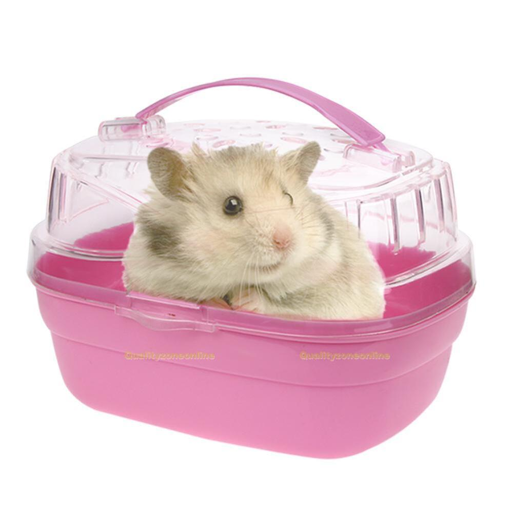 Pet Hamster House Travel Carrier Plastic Small Animal ...