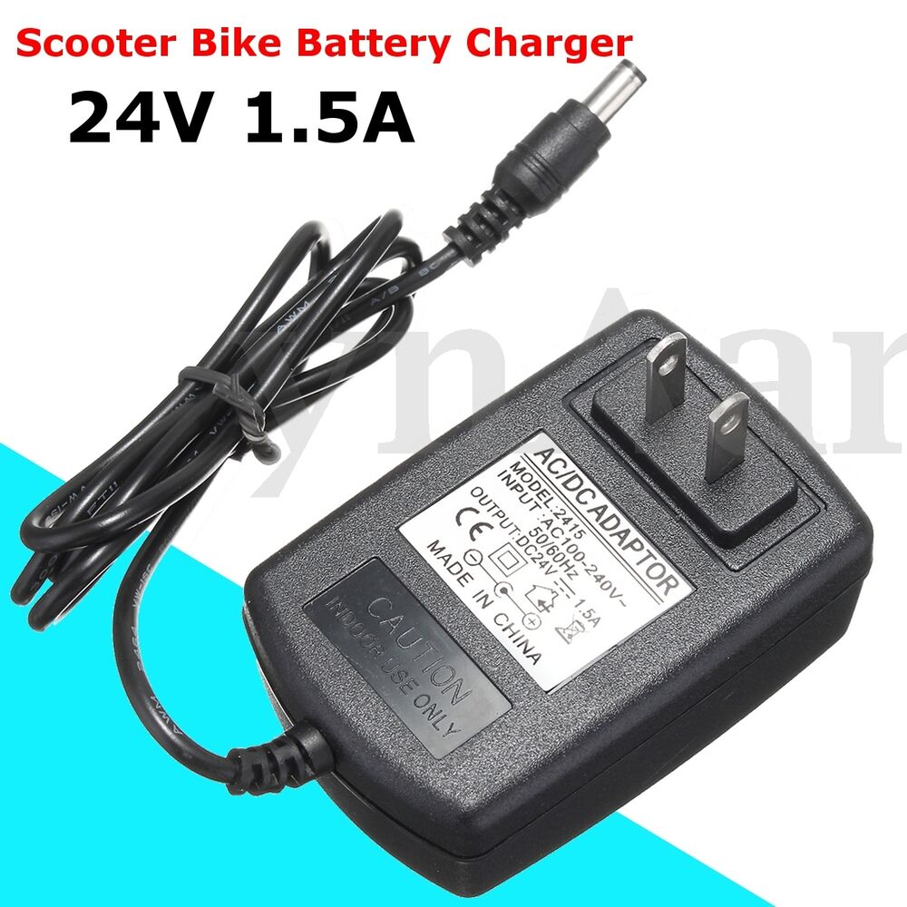 24v 1 5a Scooter Bike Battery Adapter Charger For Razor