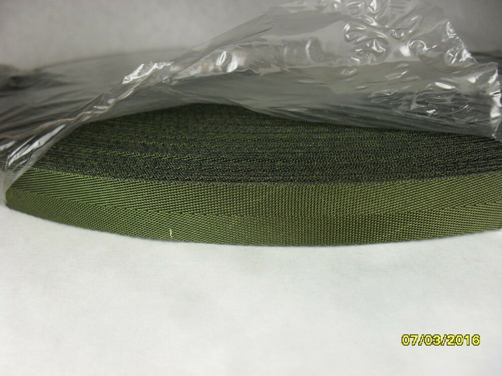 9 16 Inch 25 Feet Military Spec OD Nylon Class 1A Treated Webbing Strapping