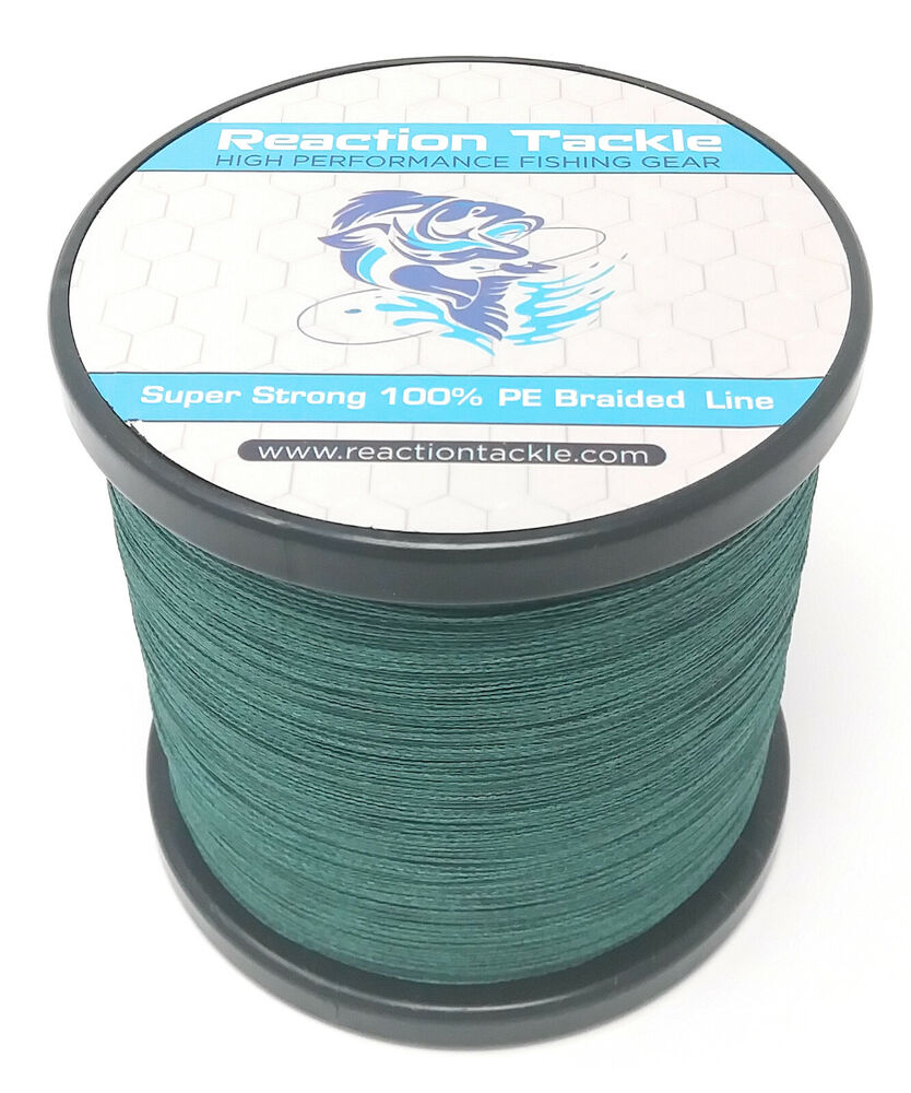 Reaction tackle high performance braided fishing line for Braid fishing line