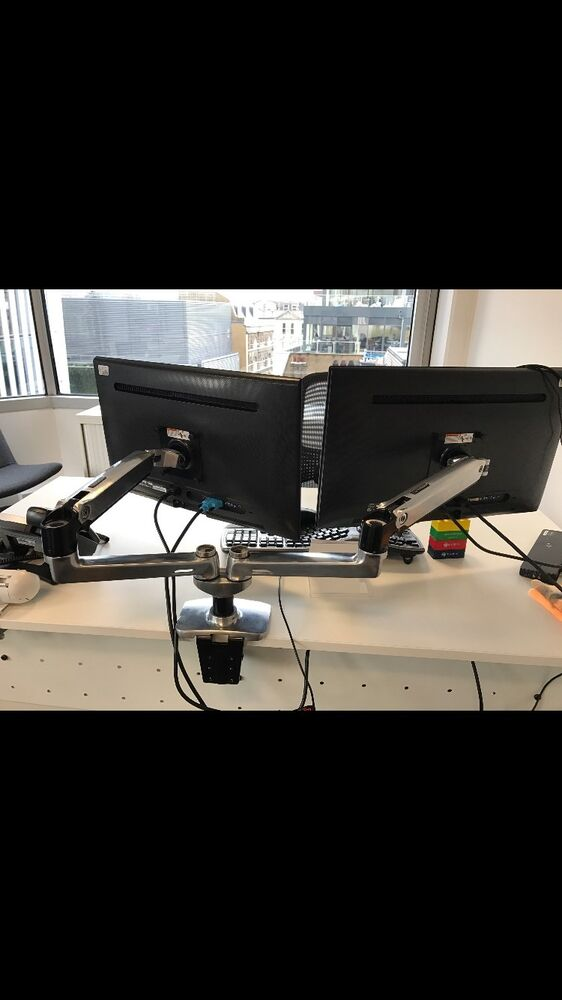 45 245 026 Ergotron Lx Dual Side By Side Arm Mounting