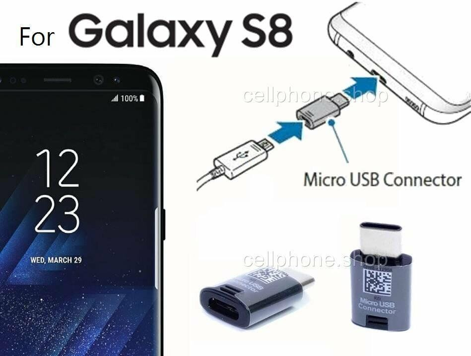 original type c to micro usb connector adapter for samsung