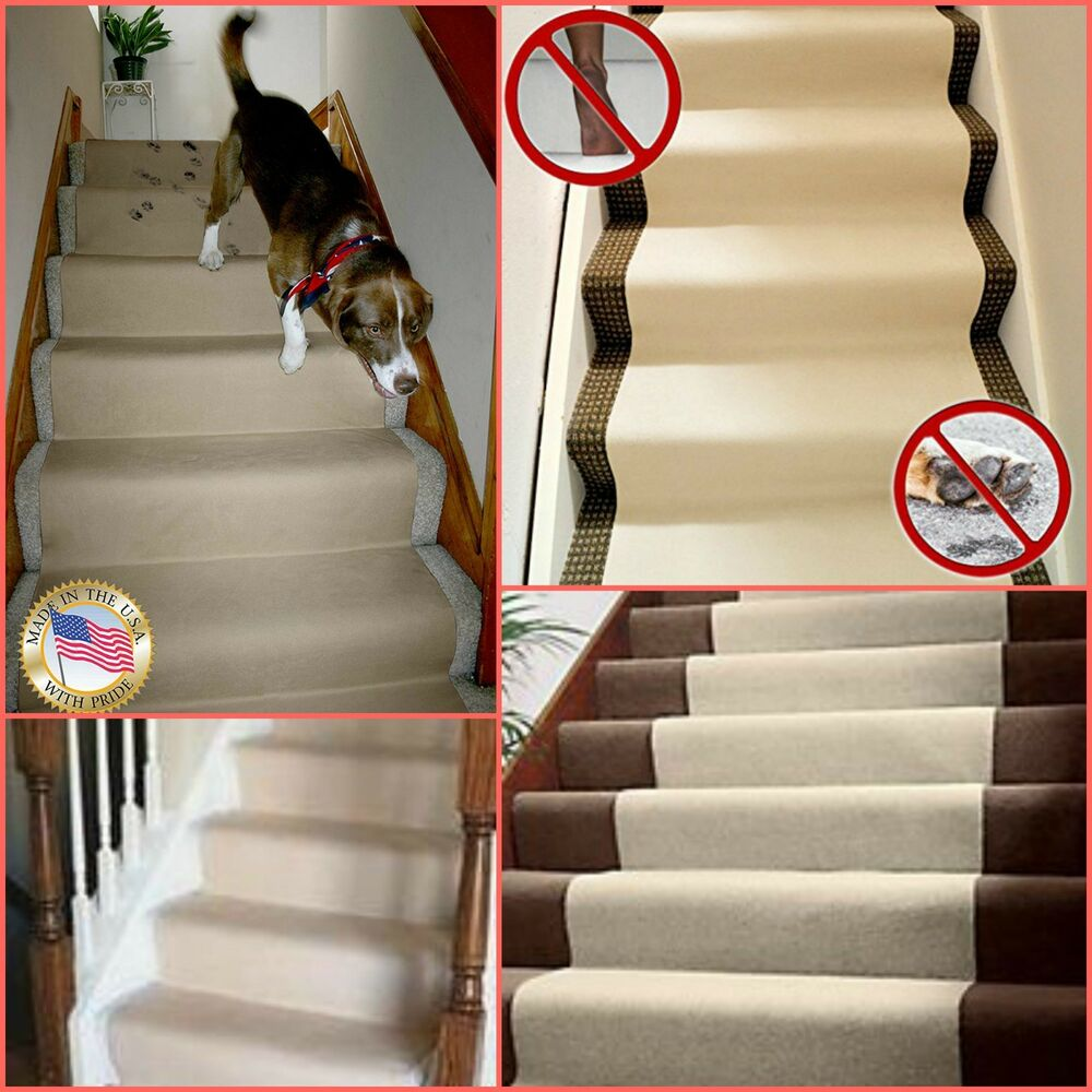Replacing Carpet With A Stair Runner: Non Slip Carpet Runner Stairs Floor Protector Stair Runner