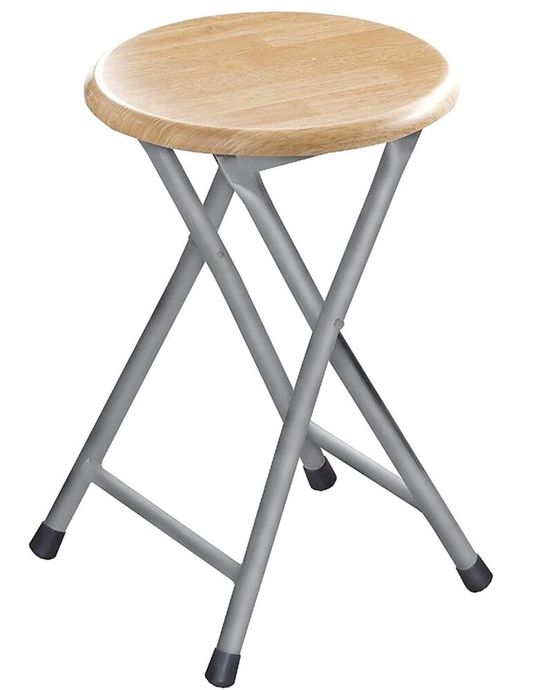 Wooden Step Seat Stool Stackable Round Chair Bar Stool