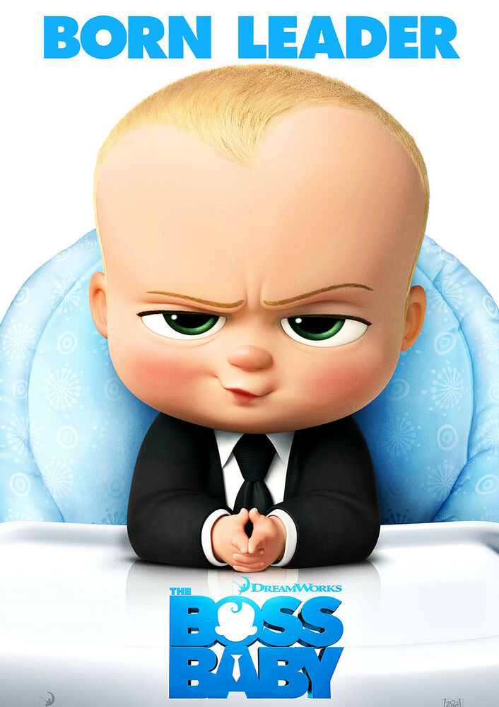 BOSS BABY Poster Cool New 2017 Movie Comedy Hit Film, FREE ...