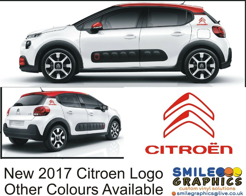 new 2017 citroen logo stickers graphics decals c1 c3 c4 cactus picasso bagde ebay. Black Bedroom Furniture Sets. Home Design Ideas