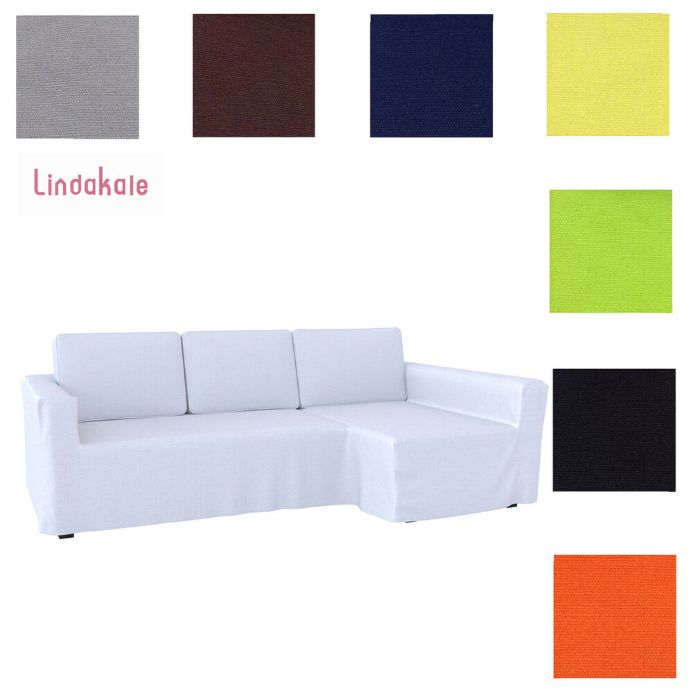 custom made cover fits ikea manstad sofa bed with chaise, hidabed