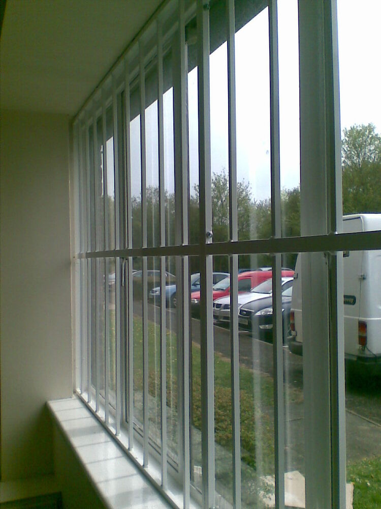 Fixed security grille bars for windows doors gates