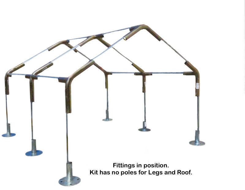 Carport Canopy Kit 10 X 20 Ft W Foot Pads High Peak 1 3 8