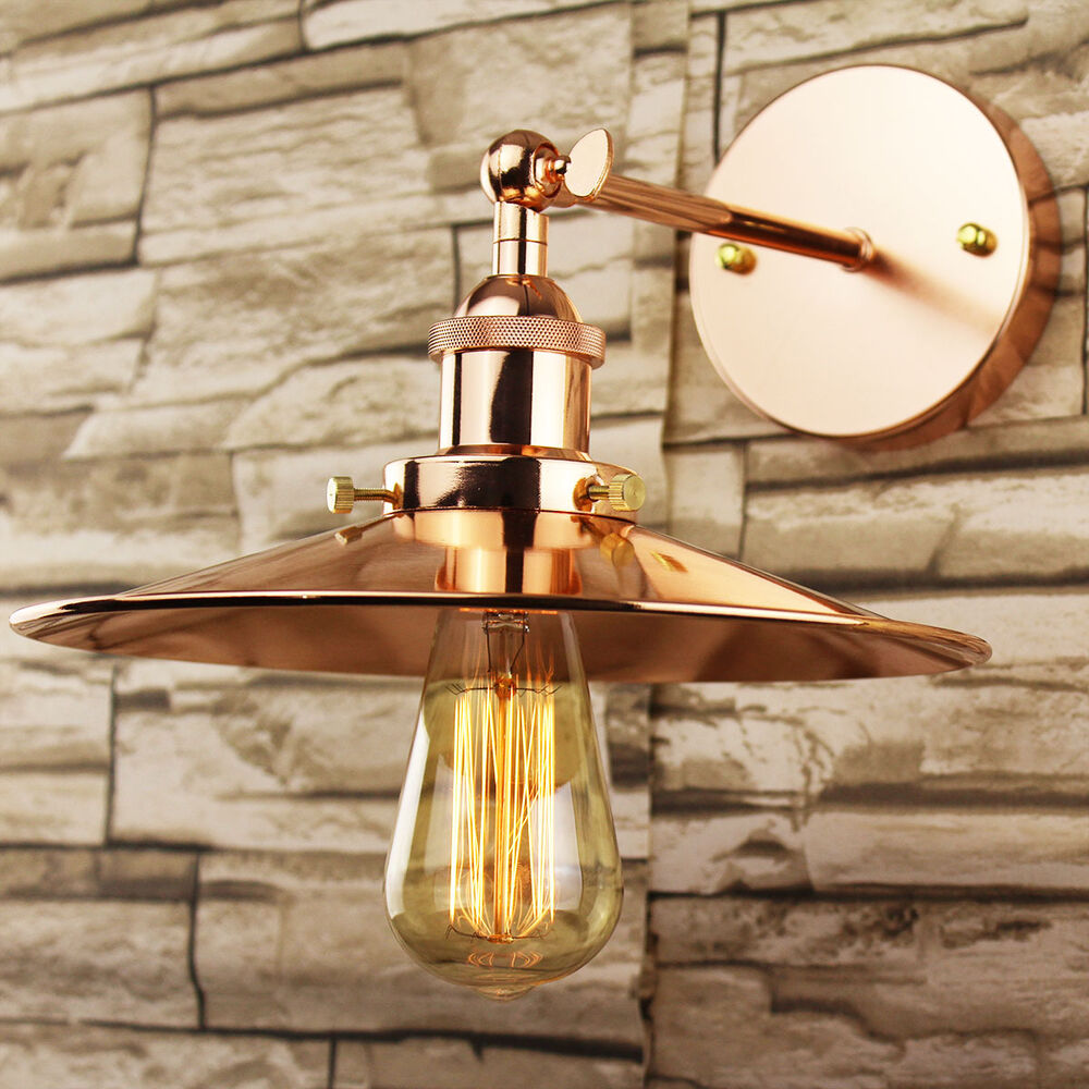 Industrial Retro Vintage Copper Metal Lamp Shade DIY Pendant Wall Light Fitting eBay