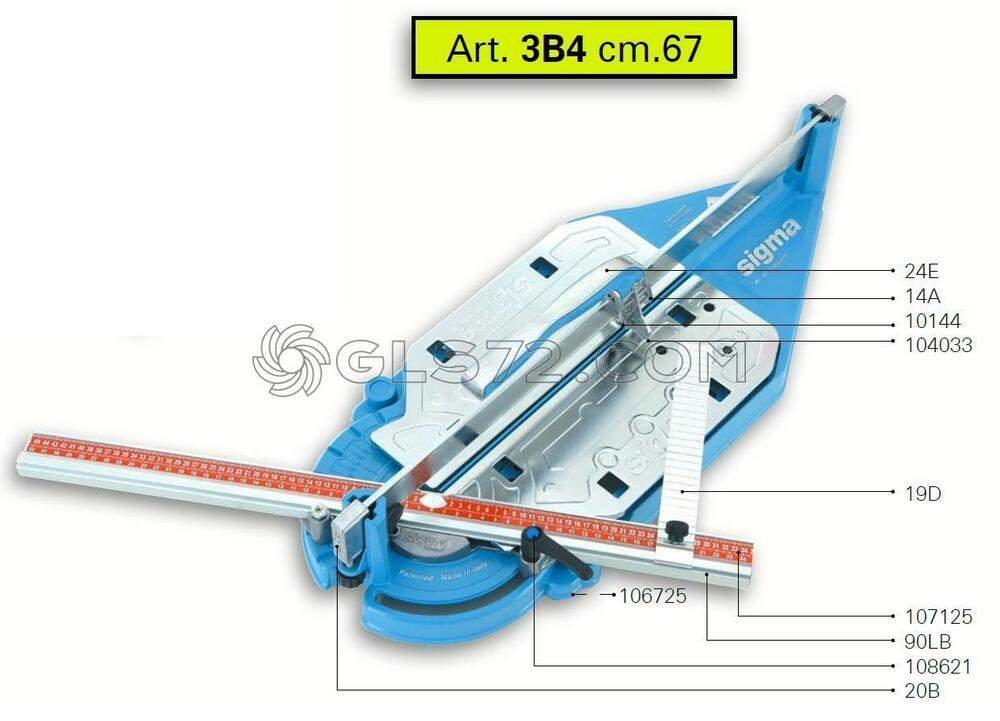Spare Parts And Accessoires For Tile Cutter Sigma 3b4 Ex
