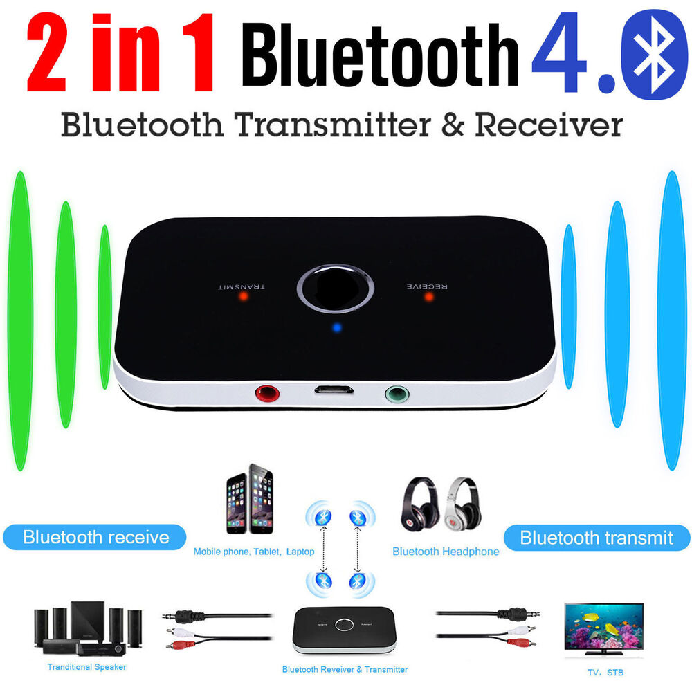 2 in 1 wireless bluetooth transmitter a2dp receiver stereo audio music adapter ebay. Black Bedroom Furniture Sets. Home Design Ideas