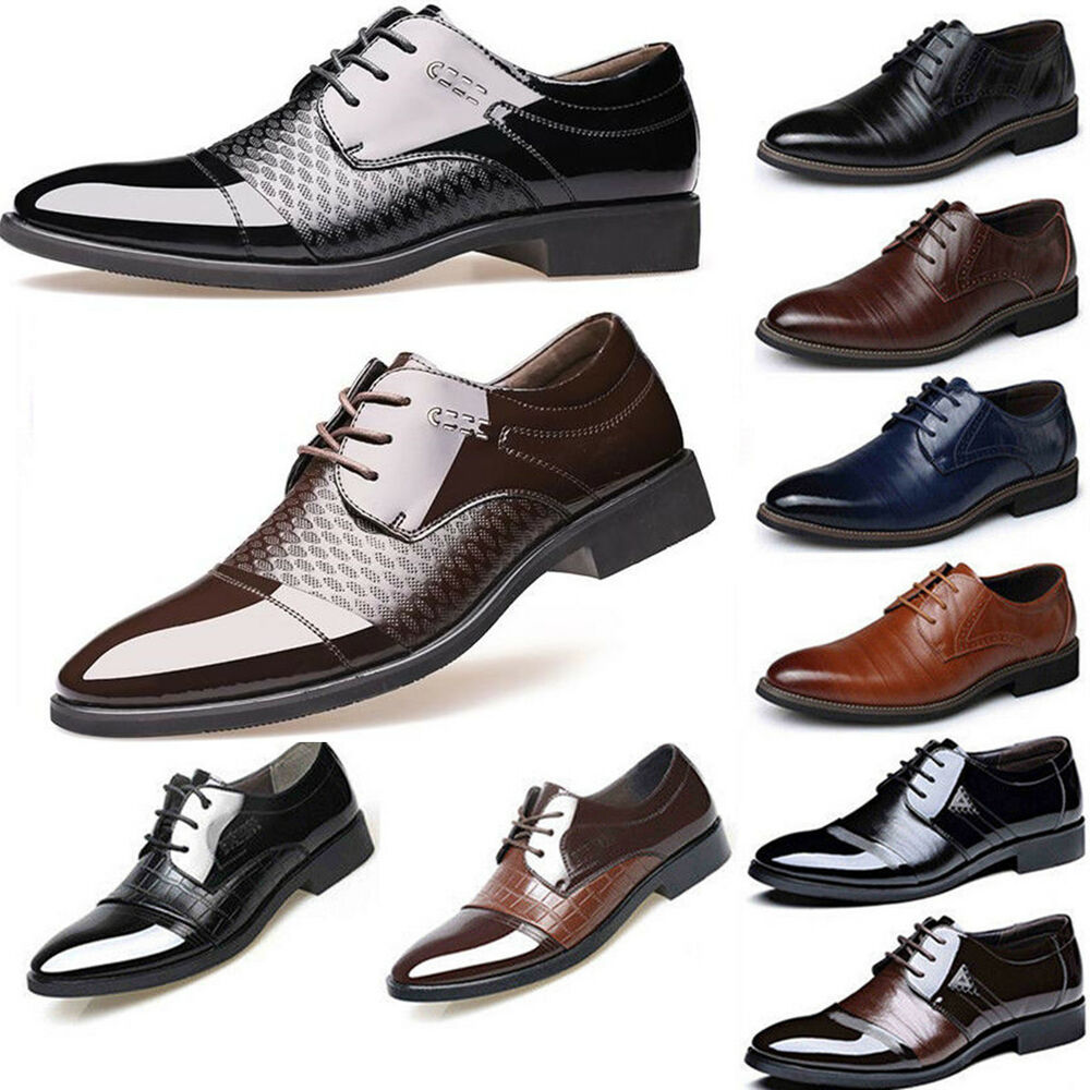 New Men Fashion Breathable Leather Shoes Business Shoes Casual Shoes